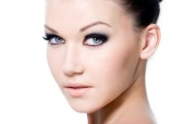 Beauty female face with eye make-up
